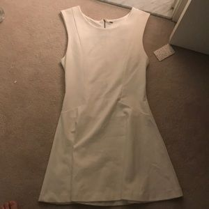 White fit & flare free people dress